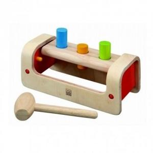 PLAN TOYS Деревянная игрушка Забивалка Вертелка 5350
