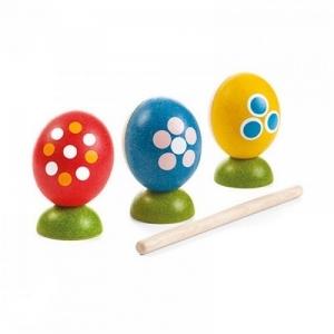 PLAN TOYS Деревянная игрушка Набор для битья яиц 5602