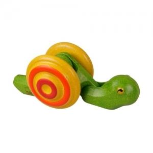 PLAN TOYS Деревянная игрушка Каталка-Улитка 5610