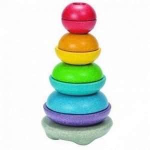 PLAN TOYS Деревянная игрушка Пирамидка логика 5615