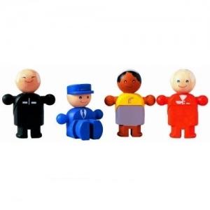 PLAN TOYS Деревянная игрушка Набор деревянных человечков 6041