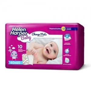 Пелёнки детские одноразовые Helen Harper Baby (60*60) 10 шт.