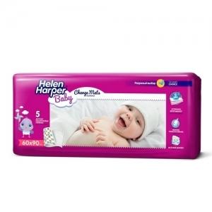Пелёнки детские одноразовые  Helen Harper Baby (60*90) 5 шт.