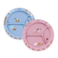 AVENT Тарелочка с разделителями (нескользящее основание) розовый/голубой 65616