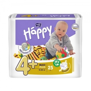 Подгузники Happi Maxi plus 4+ (9-20кг) 25 шт