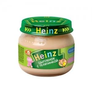 """""""Heinz"""" пюре Цыплёнок с Телятинкой с 8 месяцев 80 г."""
