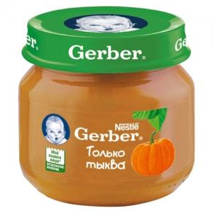 """""""Gerber"""" пюре Тыква с 5 месяцев 80 г."""