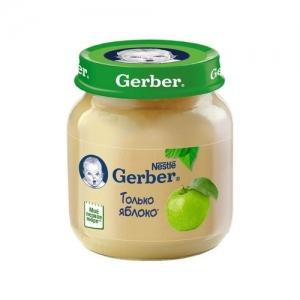 """""""Gerber"""" пюре Яблоко с 4 месяцев 80 г."""
