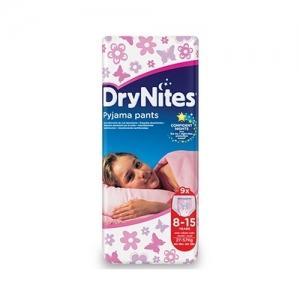 Трусики HUGGIES Dry Nites Pyjama Pants для девочек 8-15 лет (27-57 кг) 9 шт.