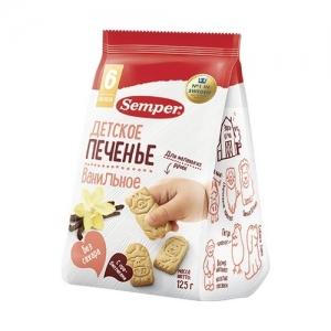 """Печенье """"Semper"""" 125 г. Ванильное с 6 месяцев"""