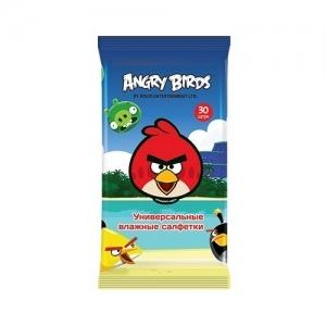 Салфетки детские влажные Angry Birds универсальные 30 шт.