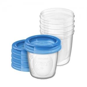 AVENT Набор контейнеры с крышками 180 мл.-10 шт. SCF618/10