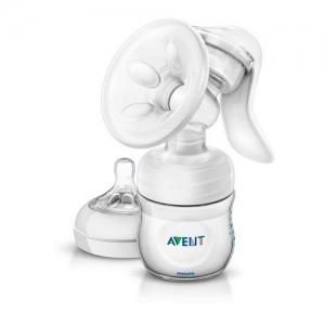 AVENT Молокоотсос ручной c принадлежностями и бутылочкой 125 мл SCF330/20