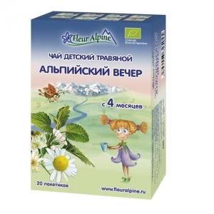"""""""Fleur Alpine"""" ORGANIC чай Альпийский вечер с 4 месяцев"""