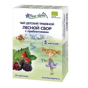 """""""Fleur Alpine"""" ORGANIC Чай Лесной сбор с Пребиотиками с 5 месяцев"""