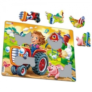 "LARSEN Пазл ""Дети на ферме. Трактор"" BM-7"