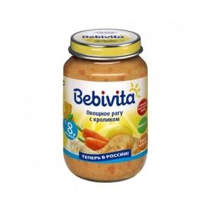 """""""Bebivita"""" пюре Овощное рагу с Кроликом 190 г."""