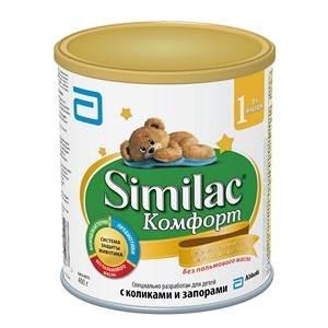 """""""Similac Комфорт 1"""" для детей с Коликами и Запорами. Гидролизованный белок. с Рождения 375 г."""