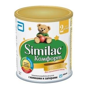 """""""Similac Комфорт 2"""" для детей с Коликами и Запорами. Гидролизованный белок. с 6 месяцев 375 г."""