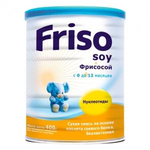 Friso ФрисоСой Смесь  400 г. с рождения до 12 месяцев на основе изолята соевого белка, безлактозная