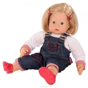 Gotz Кукла maxi Muffin, блондинка в джинсовом комбинезоне 1427173