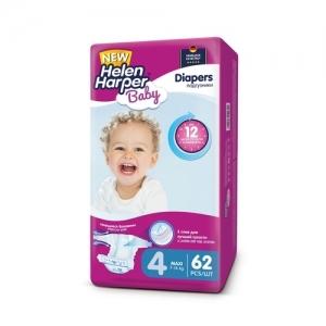 Подгузники  Helen Harper Baby №4 (7-18 кг) 62 шт.