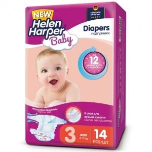 Подгузники Helen Harper Baby  №3 (4-9 кг) 14 шт.