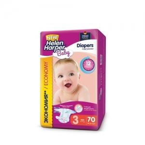 Подгузники Helen Harper Baby №3 (4-9 кг) 70 шт.