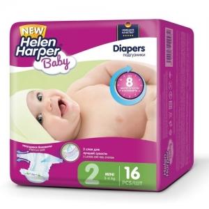 Подгузники  Helen Harper Baby №2 (3-6 кг) 16 шт.