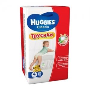 HUGGIES  трусики-подгузники Classic Small-Pack №4 (9-14 кг) 15 шт.
