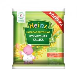 """Heinz"" Кашка НизкоАллергенная Кукурузная кашка с 5 месяцев 20 г."