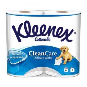 Kleenex Delicate White Бумага туалетная 4 шт.