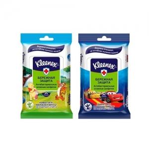 Kleenex Disney Салфетки влажные освежающие 10 шт.