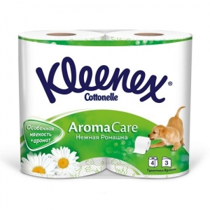 Kleenex Бумага туалетная Нежная ромашка 4 шт. 3 слоя