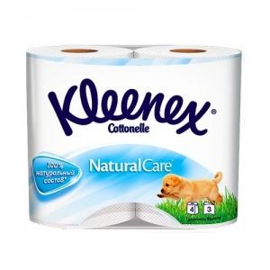Kleenex Бумага туалетная Чистота облаков 4 шт. 3 слоя