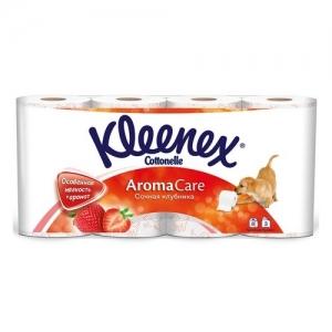 Kleenex Бумага туалетная Сочная клубника 8 шт. 3 слоя