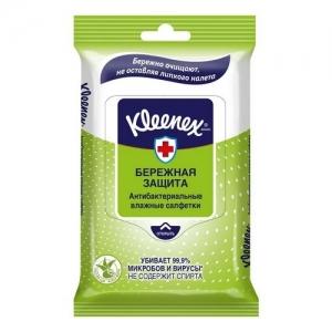 Kleenex Салфетки влажные освежающие  Антибактериальные10 шт.
