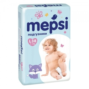 """Mepsi"" подгузники L (9-16 кг.) 38 шт."