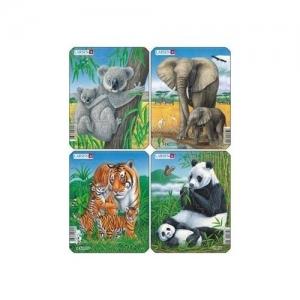 "LARSEN Пазл ""Коала,слон,тигр,панда"" V4"