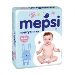 """Mepsi"" подгузники M (6-11 кг.) 42 шт."
