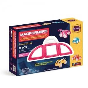 "MAGFORMERS Магнитный конструктор ""My First Buggy Car Set Pink 14"" 702008 (63147)"