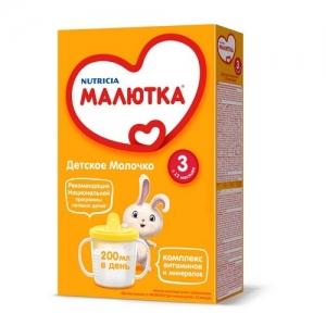 """""""МАЛЮТКА 3"""" детское молочко с 12 месяцев 300 г."""