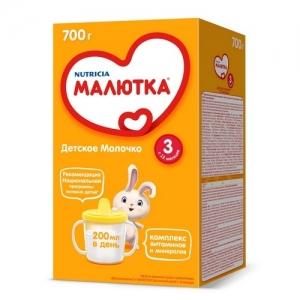"""МАЛЮТКА 3""  молочная смесь с 12 месяцев 600 г."