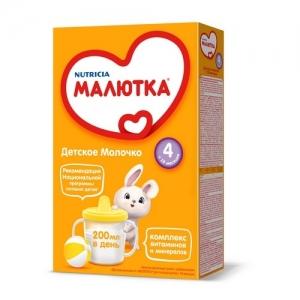 """""""МАЛЮТКА 4"""" детское молочко с 18 месяцев 300 г."""