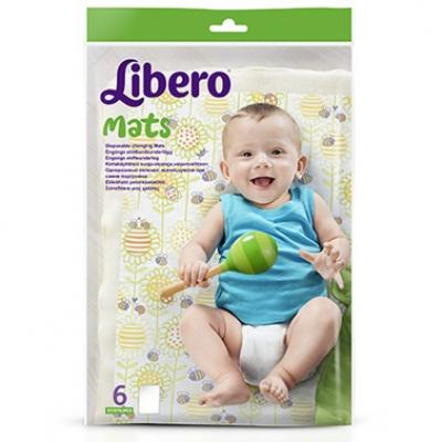 Libero Easy Change одноразовые пелёнки, используются при смене подгузника 6 шт