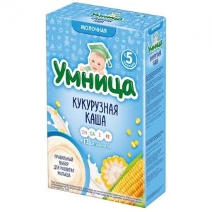 """""""Умница"""" Каша Молочная Кукурузная с 5 месяцев 200 г"""