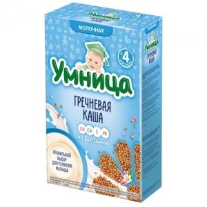 """""""Умница"""" Каша Молочная Гречневая с 4 месяцев 200 г"""