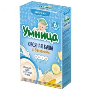 """""""Умница"""" Каша Молочная Овсяная с Бананом с 6 месяцев 200 г"""