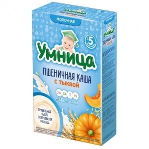 """""""Умница"""" Каша Молочная Пшеничная с Тыквой с 5 месяцев 200 г"""