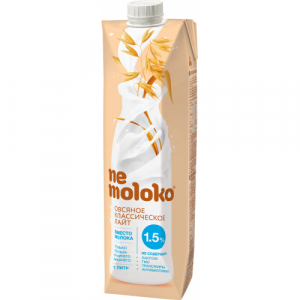 Nemoloko напиток овсяный классический лайт 1,5% 1 л.